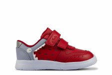 Clarks 'Ath Scale' Boys Shoes (Red)