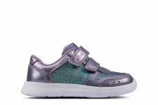 Clarks 'Ath Sonar Toddler' Girls Shoes (Lilac)