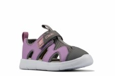 Clarks 'Ath Surf Toddler' Girls Sandals (Lilac)