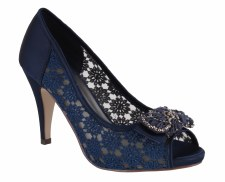 Barino '260' Ladies Peep-Toe Heels (Navy)