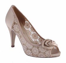 Barino '280' Ladies Lace Heels (Beige)