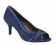 Barino '290' Ladies Sparkly Heels (Navy)