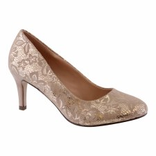 Barino '400' Ladies Heels (Nude/Gold)