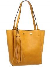 Bessie London 'BD3710' Ladies Handbag (Yellow)