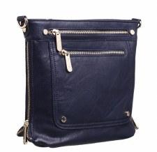 Bessie London 'BL2755' Ladies Handbag (Navy)