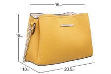 Bessie London 'BH4315' Ladies Handbag (Yellow)
