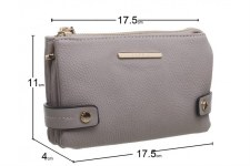 Bessie London 'BP1259' Ladies Purse (Grey)