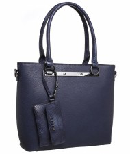 Bessie London 'BW4083' Ladies Handbag (Navy)