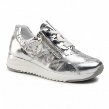 Caprice '23704' Ladies Wide Fitting Trainers (Silver)