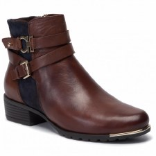 Caprice '25309' Ladies Ankle Boots (Brandy/Navy)