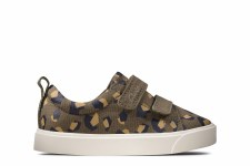 Clarks 'City Bright Toddler' Boys Shoes (Olive Camo)