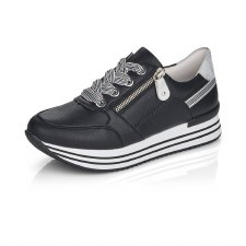Remonte 'D1312' Ladies Trainers (Black/White)