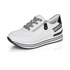 Remonte 'D1312' Ladies Trainers (White/Black)
