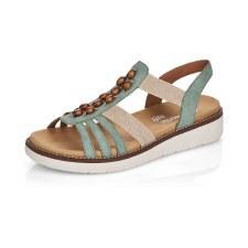 Remonte 'D2065' Ladies Sandals (Green)