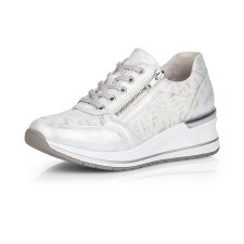 Remonte by Rieker 'D3203' Ladies Shoes (White/Silver)