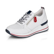 Remonte 'D3207' Ladies Trainers (White/Navy/Red)