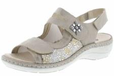 Remonte by Rieker 'D7647' Ladies Sandals (Gold Multi)