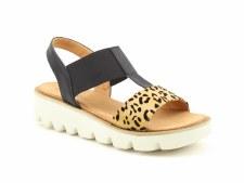 Heavenly Feet 'Ritz' Ladies Sandals (Black Leopard)