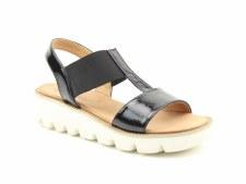 Heavenly Feet 'Ritz' Ladies Sandals (Black Patent)