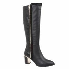 Lotus 'Gabrielle' Ladies Long Boots (Black)