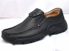 Goor '03' Mens Slip-On Shoes (Black)