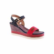 Hannah B '106' Ladies Sandals (Red Multi)