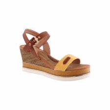Hannah B '106' Ladies Sandals (Yellow Multi)
