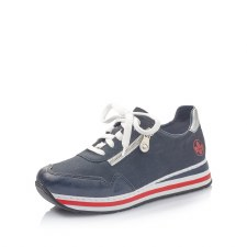 Rieker 'L22Q2' Ladies Shoes (Navy/Ice)