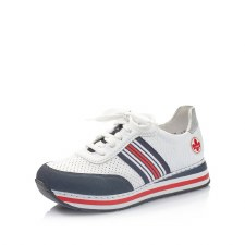 Rieker 'L2327' Ladies Shoes (White/Navy/Red)