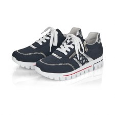 Rieker 'L2808' Ladies Shoes (Navy/White)
