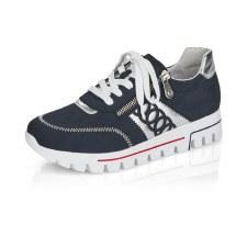 Rieker 'L2808' Ladies Shoes (Navy/White)