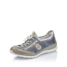 Rieker 'L3296' Ladies Shoes (Jeans/Silver)