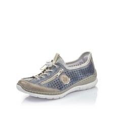 Rieker 'L3296' Ladies Shoes (Jeans/Silver)