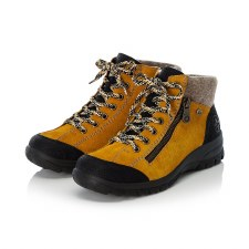 Rieker 'L7132' Ladies Ankle Boots (Yellow/Black)