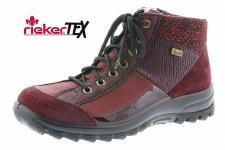 Rieker 'L7143' Ladies Ankle Boots (Bordo)