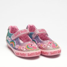 Lelli Kelly '1082 Rainbow' Girls Shoes (Multi)