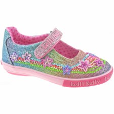 Lelli Kelly '4074' Girls Canvas Shoes (Glitter Multi)