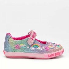 Lelli Kelly '7076' Girls Shoes (Multi Glitter)