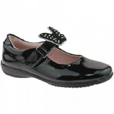 Lelli Kelly 'Dolly Rosie' School Shoe (Black Butterfly)