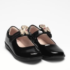 Lelli Kelly '8217 Poppy' Girls School Shoes (Black Patent)