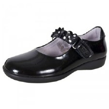 Lelli Kelly 'Dolly Holly' School Shoe (Black Patent)