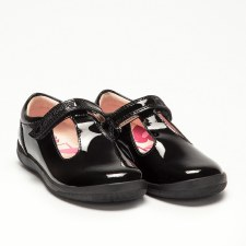 Lelli Kelly '8268 Mila' Girls School Shoes (Black Patent)