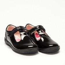 Lelli Kelly '8268 Mila' Girls School Shoes (Black Patent)