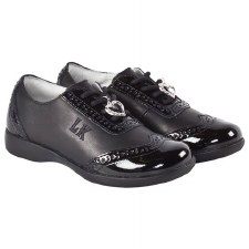 Lelli Kelly '8281' Kimberly' Girls School Shoes (Black Patent)