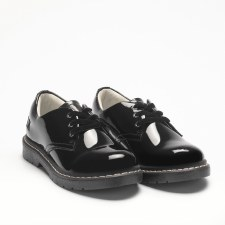 Lelli Kelly '8287 Rochelle' Girls School Shoes (Black Patent)