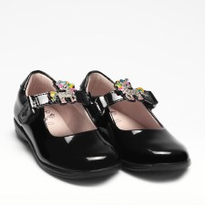Lelli Kelly '8311 Bonnie' Girls School Shoes (Black Patent)