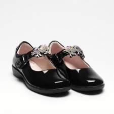 Lelli Kelly '8312 Blossom' Girls School Shoes (Black Patent)