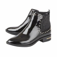 Lotus 'Lolita' Ladies Ankle Boots (Black Patent)