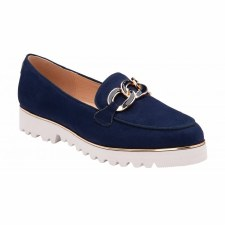 Lotus 'Cassia' Ladies Loafers (Navy)