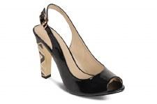 Lunar 'FLC419' Peep-Toe Heels (Black)